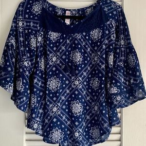 Justice Navy & White Top
